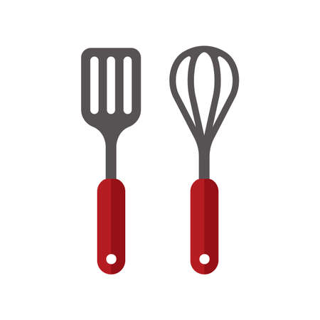 kitchen utensils icon (spatula and whisk) /crossed 写真素材 - 121640594