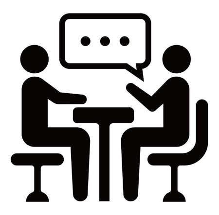 Treffen, Diskussion, Konversationssymbol