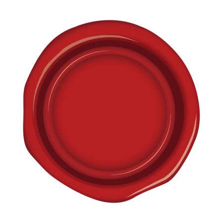 sealing wax, stamp illustration (red) Foto de archivo - 121640619