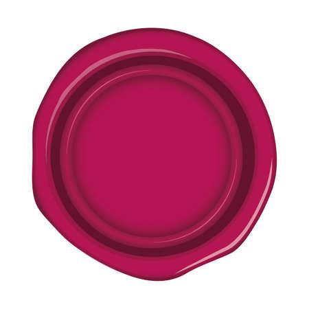 Seling wax, stamp illustration (pink) 向量圖像