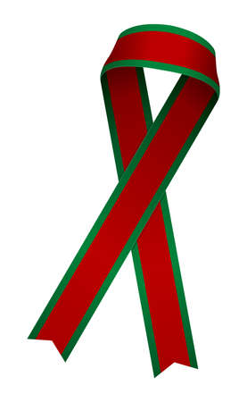 Awareness ribbon illustration (red & green)
