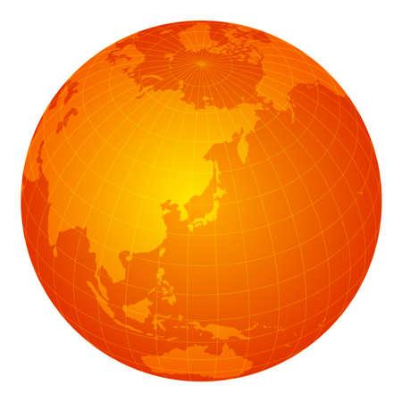 global image illustration (focus on east asia): m
