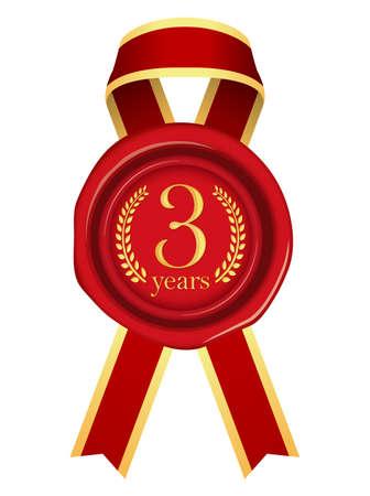 Sealing Wax Ribbon illustration (Year Anniversary)/5 years