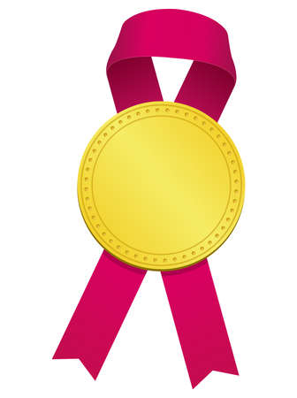 Gold Medal ribbon  illustration 向量圖像