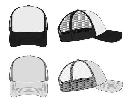 Trucker cap/mesh cap template illustration