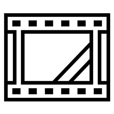 Thin line sharp vector iconfilm, movie, video