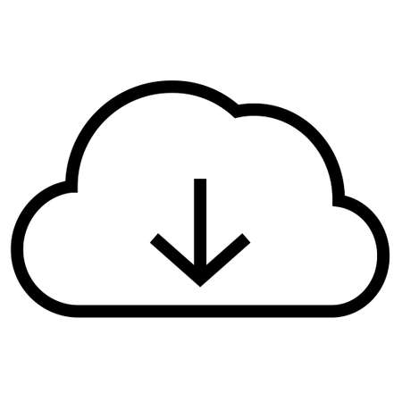 Thin line sharp vector icon/cloud computing (download)