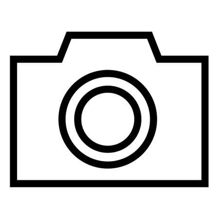 Thin line sharp vector iconcamera, photo, picture Ilustrace