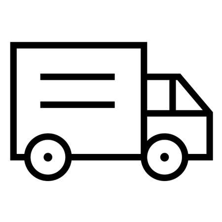 Thin line sharp vector icontruck, delivery, transport