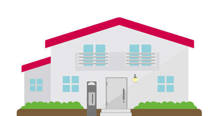 Detailed Cottage House. Flat vector illustration.