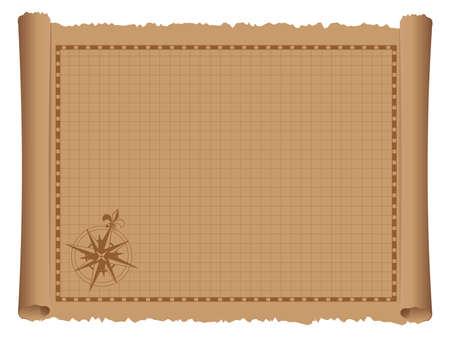 Illustration vectorielle de carte vintage modèle