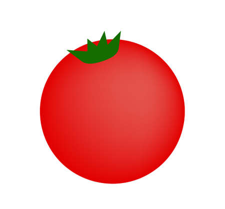 Small tomato vector flat illustration