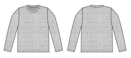 Longsleeve t-shirt illustration (heather gray) front,back