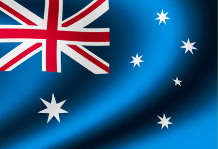 Waving national flag illustration (Australia)