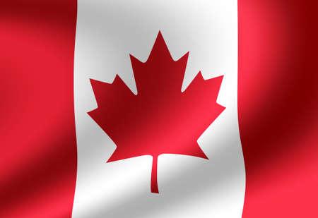 Waving national flag illustration (Canada)