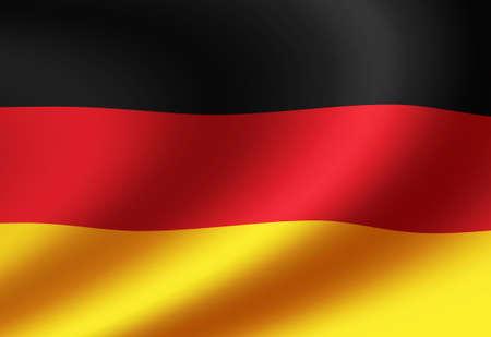 Waving national flag illustration (Germany)