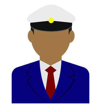 Young male worker avatar flat illustration (upper body)  driver, taxi driver