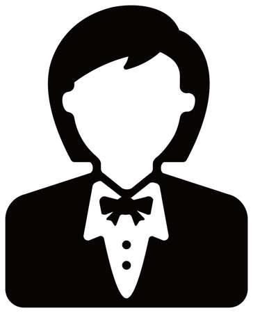 Female worker , female business person / avatar icon illustration (upper body) Vektoros illusztráció