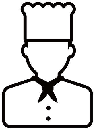 Worker avatar icon illustration (upper body) / chef, cook Standard-Bild - 129349401