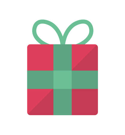 Present box flat vector icon