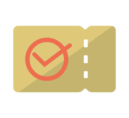 coupon, ticket flat vector icon