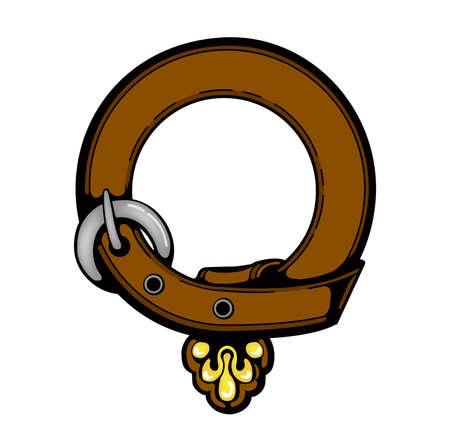 vintage circle belt illustration ( blank / design space )