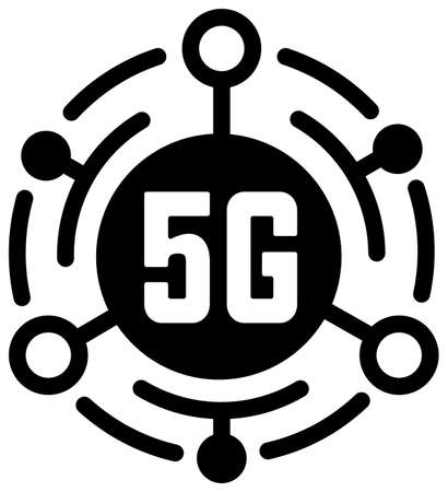 5G (Next-generation high-speed communication) vector flat icon