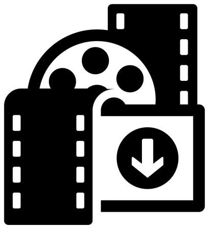 5G (Next-generation high-speed communication) vector flat icon  movie,video download
