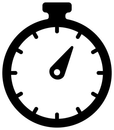 Stopwatch, timer, high speed / vector flat icon