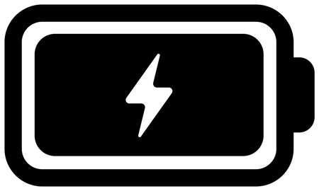 Battery, charge, power  vector flat icon