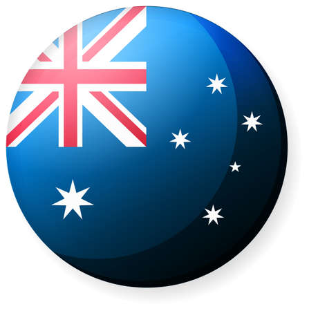 Circular country flag icon (button badge ) / Australia