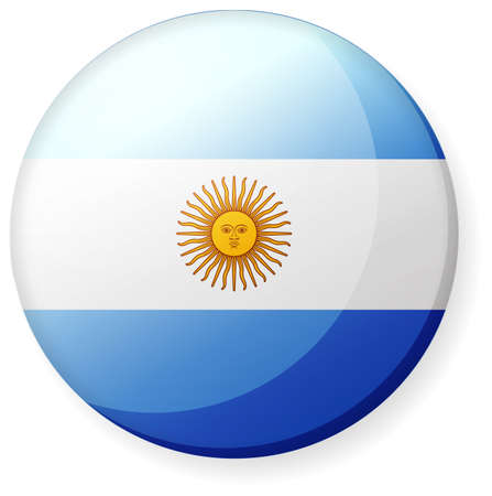 Circular country flag icon (button badge ) / Argentina