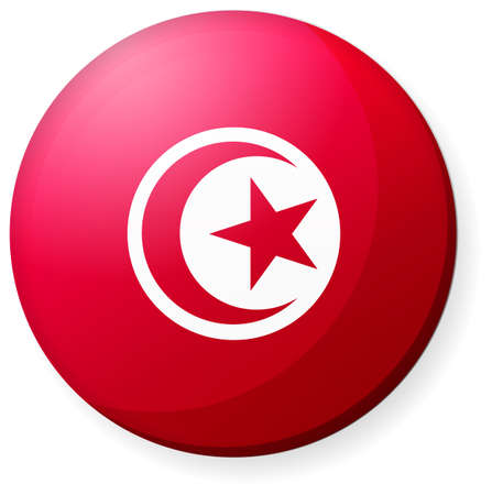 Circular country flag icon (button badge ) /