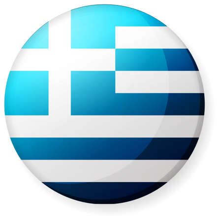 Circular country flag icon (illustration button badge ) / Greece