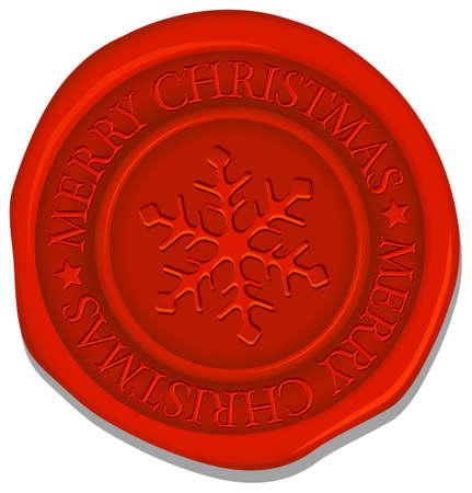 Sealing wax (snowflake mark) vector illustration Vettoriali