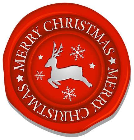 Sealing wax (reindeer mark) vector illustration