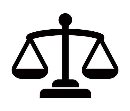 Balance, juge, échelle, icône de la Cour