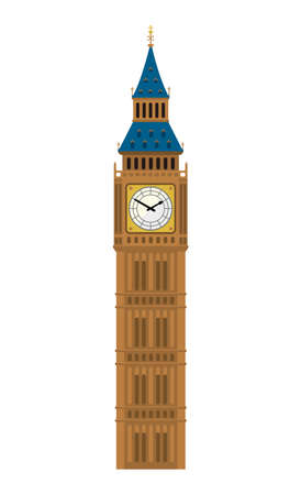 Big Ben - UK, London/World Famous Buildings Vector Illustration.