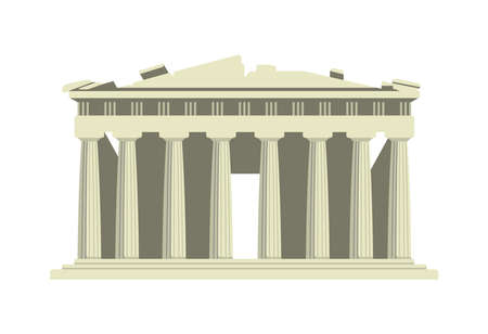 Parthenon Temple - Greece / World Famous Buildings Vector Illustration.