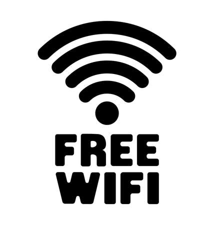 Free Wifi available vector icon illustration