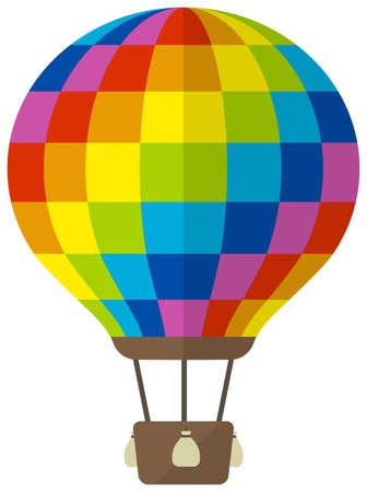 Hot air balloon flat vector illustration  イラスト・ベクター素材