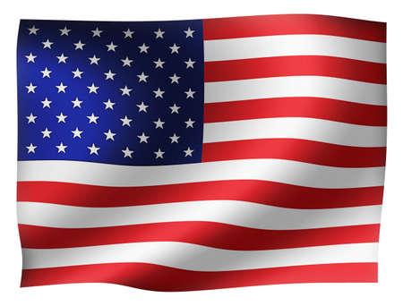 Waving national flag (USA / stars and stripes)