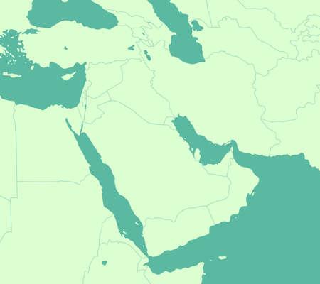 Bliski wschód, mapa krajów arabskich/brak tekstu!