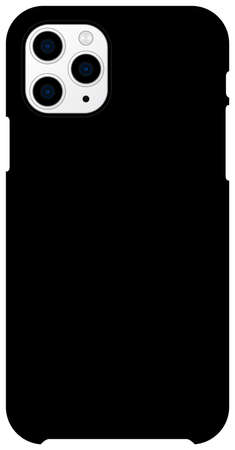 Smartphone case mockup template vector illustration (black)