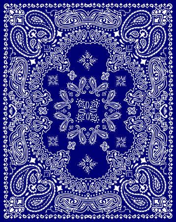 Paisley textile pattern vector illustration for bandana , scarf etc.