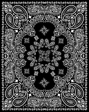 Paisley-Textilmuster-Vektorillustration für Bandana, Schal usw.