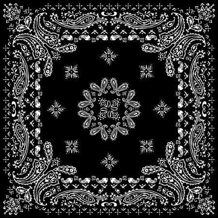 Paisley textile pattern vector illustration for bandana , scarf etc. Vector Illustratie