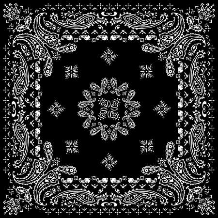 Paisley-Textilmuster-Vektorillustration für Bandana, Schal usw. Vektorgrafik