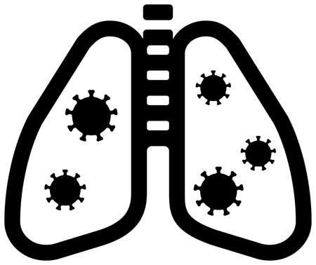 Pneumonia vector icon illustration (Corona virus / covid-19 )  イラスト・ベクター素材
