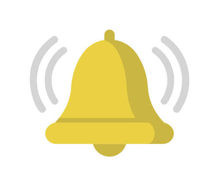 Alarm, alert, bell vector color icon illustration